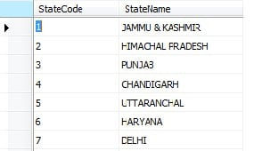 Cascaded Drop down using stored procedure