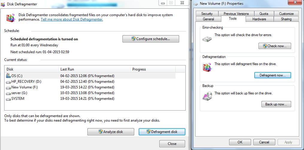 disk fregment-defregment