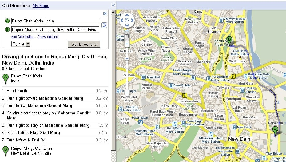 7 Tricks in Google maps directions