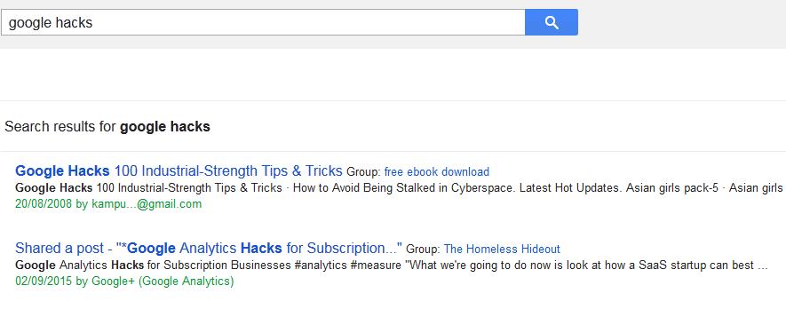 google search tricks and secrets