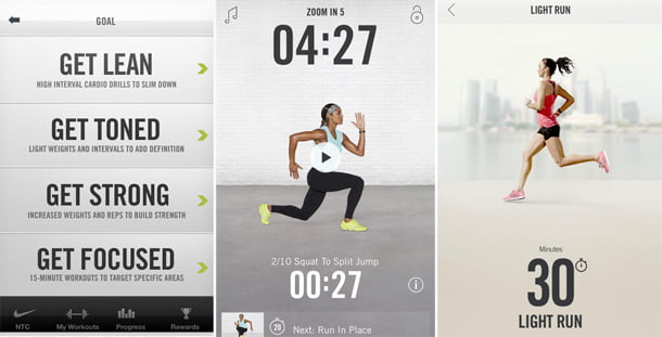 Nike Training fitness apps for iPhone