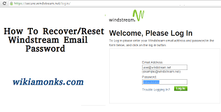 windstream reset username