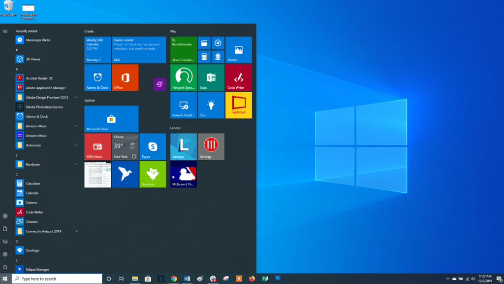 windows 10 theme.